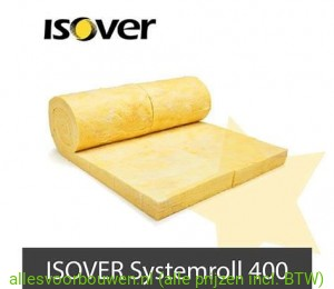 Isover Systemroll 400, dikte 140mm. afm. 780x37cm. Rd=3.65 (3 Rollen Per Pak)